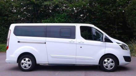 8 seater minibus part of the fleet used by Arundel Executive Cars