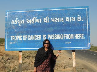 In Kutch, India, the Tropic of Cancer