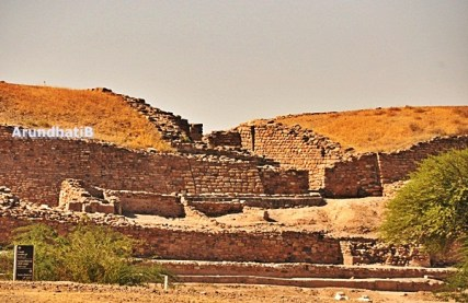Front view of the ancient city of Dholavira