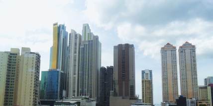 """""""...skyscrapers appeared on the horizon like upright pencil cases."""""""