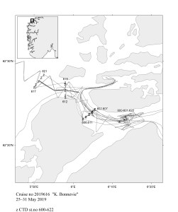 Station map 'Technology test cruise'