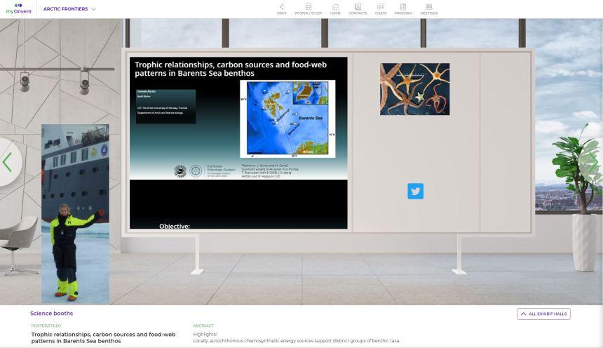 Emmelie Astroms digital booth at AF 2021