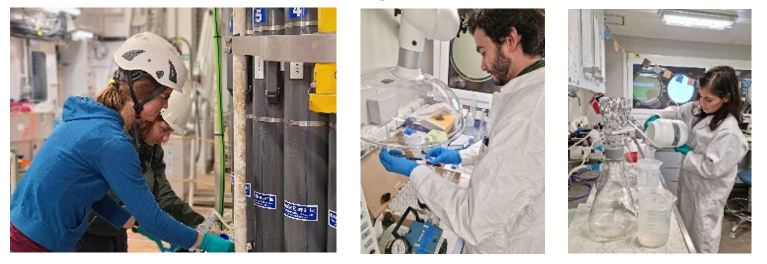 Scientists on board studying abundance, activity and elemental composition of microorganisms from seawater samples. If you want to become an observational marine microbiologist, get ready for some filtration fun. Photos: Bodil Bluhm & Selina Våge