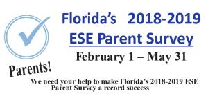 Florida 2018-2019 ESE Parent Survey