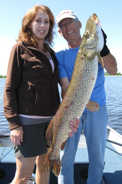 Jodi with her 40 inch Pike