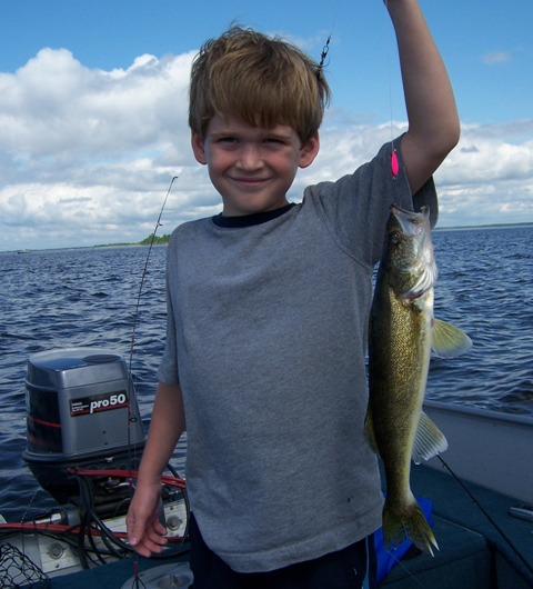 Scott with 16 inch walleye