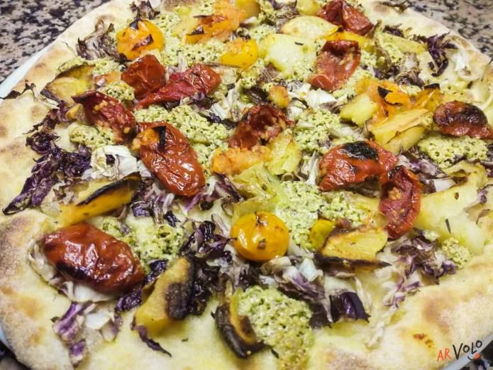 pizza Bianca pesto Canapa Vegana