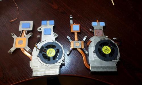 laptopi coolerid - uuem ja vanem kõrvuti.