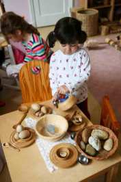 Imitative and imaginative play in a Potomac Crescent Waldorf School Nursery