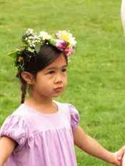 waldorf kindergarten girl may day may pole may crown