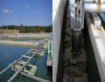 Sludge is removed daily by siphon from the basins using a Clar-A-Vac system.