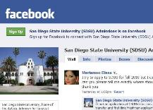 SDSU Admissions page on Facebook