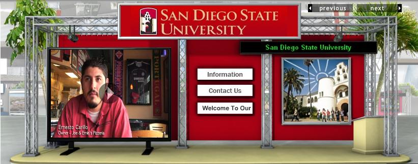 SDSU booth at College Week Live