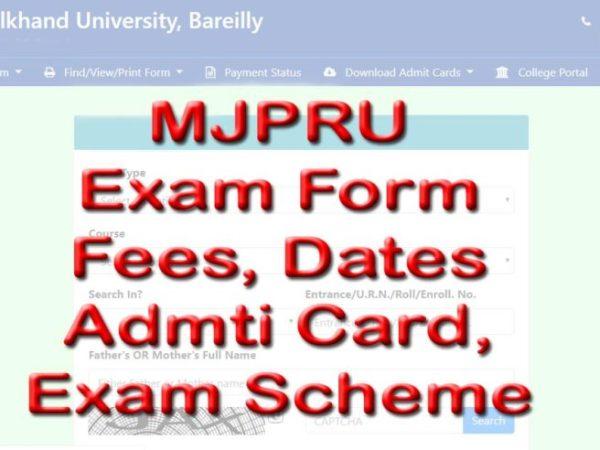 MJPRU Online Examination Form admit card, exam scheme