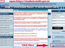 NIELIT O Level Admit Card July 2021 by Name, by Reg No student.nielit.gov.in