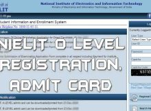 Apply online NIELIT O level registration 2021 July - 2022 January from student.nielit.gov.in. Download nielit o level admit card 2021 here.