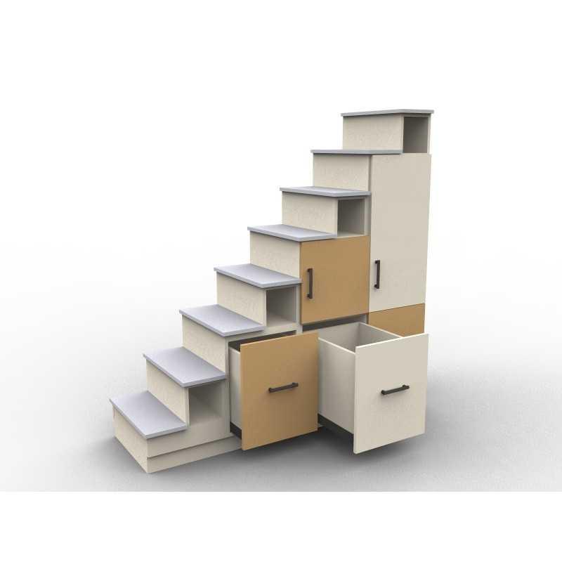 meuble escalier avec portes de rangement modele usu