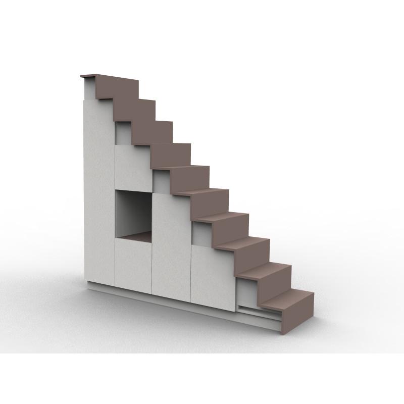 mezannin treppe schwartz und weiss
