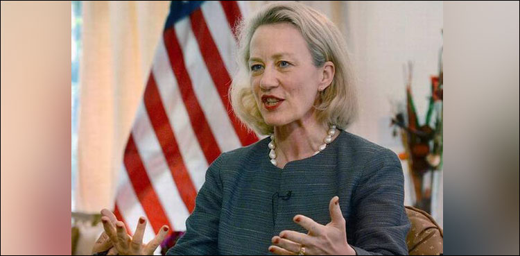 Photo of Alice Wells arriving in Islamabad at the moment on four-day go to