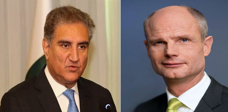 Photo of FM Qureshi, Dutch FM focus on state of affairs in Occupied Kashmir