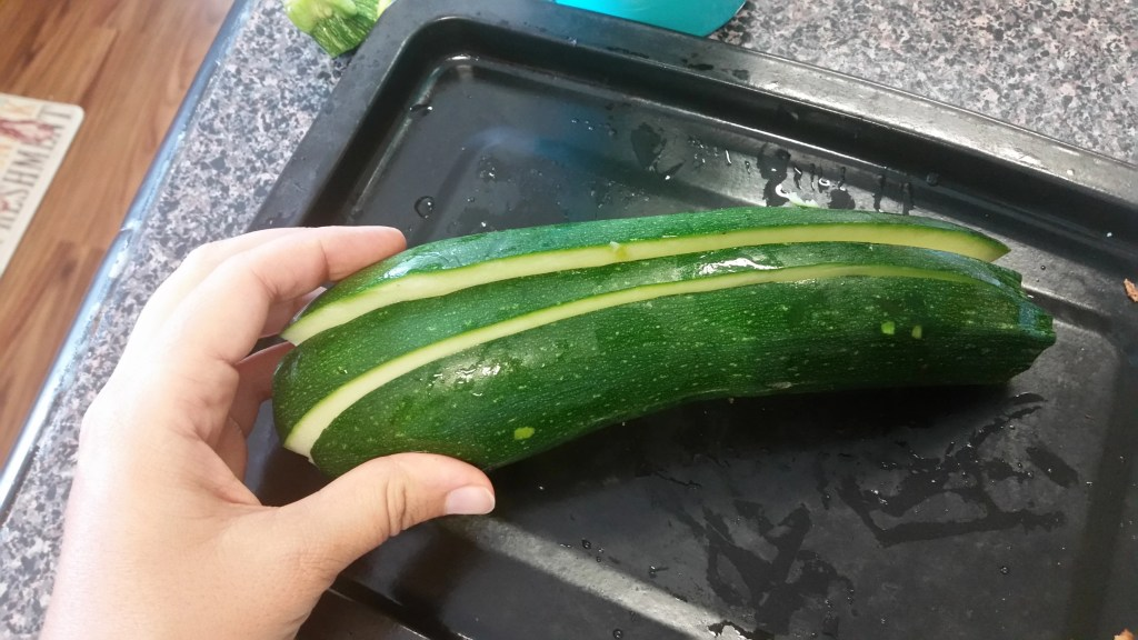 Medium Zucchini, Sliced Lengthwise