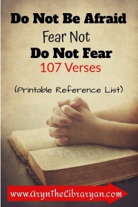 Fear God not man. 107 Scriptures to fear not