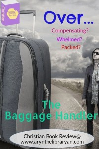 Woman looking ad a suitcase bigger than herself, black and white. Overwhelmed? Overpacked? Read the baggage handler