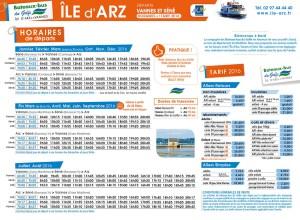 Horaires des bateaux bus  Vannes –  Ile d'Arz