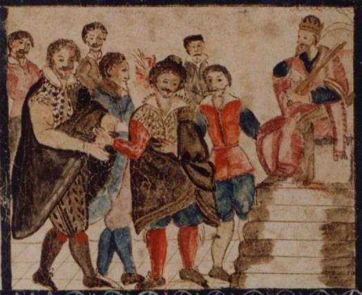 329 Convocation de la reine par les sept eunuques