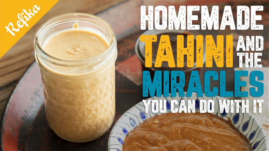 How to Make Tahini at Home | Healthy Alternative Recipes to Nutella, Cheese, Salad Dressing & Dip
