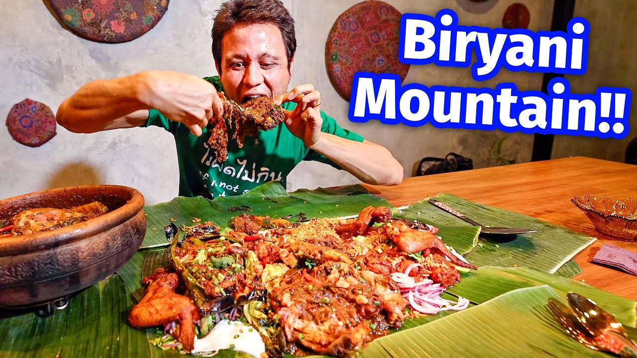 Read more about the article Extreme Malaysian Food!! BIRYANI MOUNTAIN + Smoked Goat Leg – Unseen Eating Experience!!