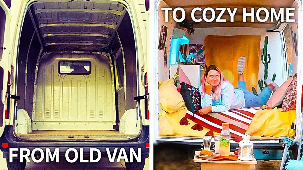 Make a Beautiful Tiny HOME From a VAN | Huge Crafts and DIYs🏠