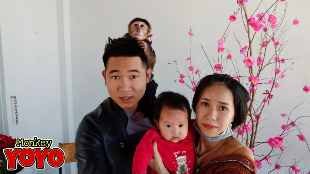 YoYo family goes to a coffee shop on New Year's Day