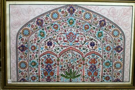 Mahabat Khan Mosque Fresco