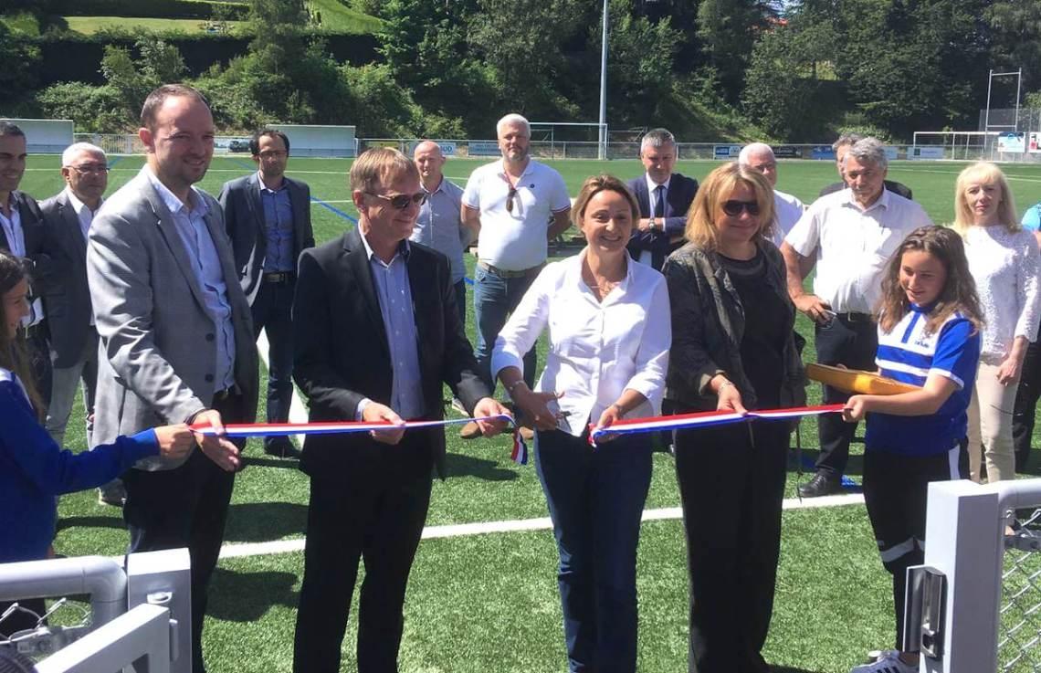Inauguration du nouveau terrain synthétique et du club-house