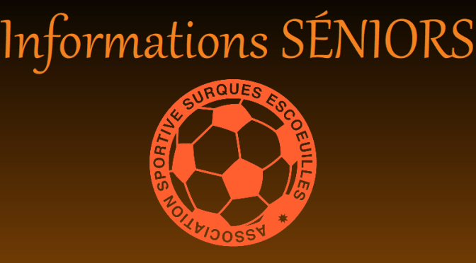 Modification Séniors