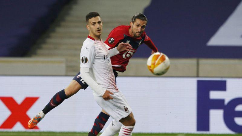 GRUPO H   LILLE 1 - MILÁN 1   Resumen y goles del Lille vs. Milán de la  Europa League - AS.com