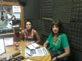 Vilma en la radio con Natalia Espasa, candidata a intendente de Pilar