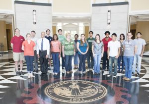 Participants in a 2012 summer research program