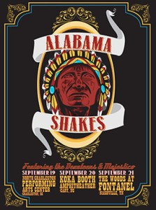 Devin Huey, an art student from Birmingham, designed this poster for the Grammy-nominated band the Alabama Shakes.