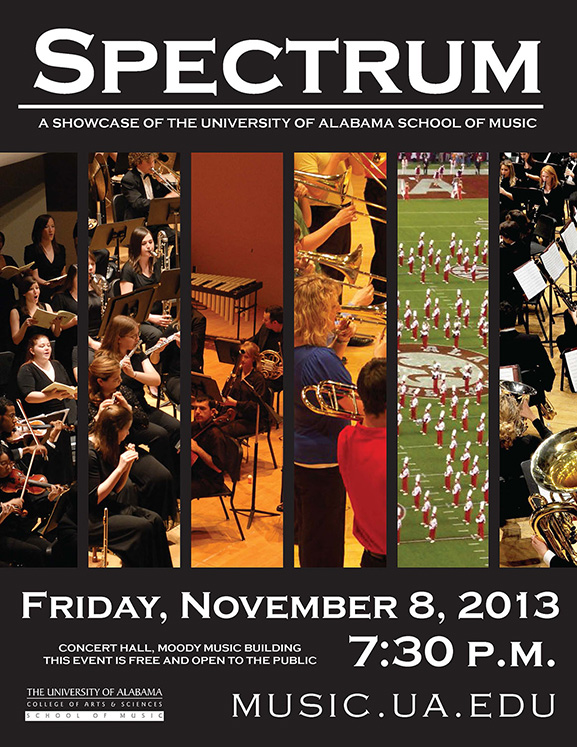 poster for fall Spectrum concert