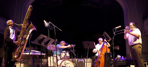 Anthony Braxton performing with an ensemble