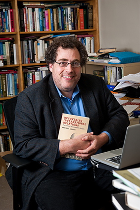 """Daniel Levine with his new book """"Recovering International Relations"""""""
