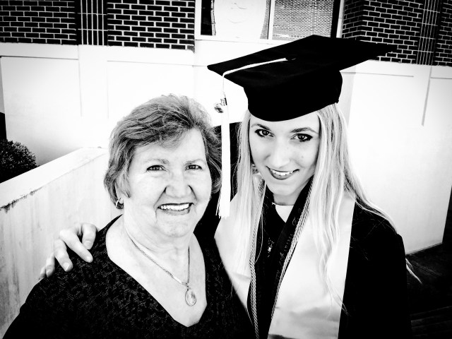 Ali Hval with her grandmother, Alma Lokken, at Ali's graduation in May 2015.