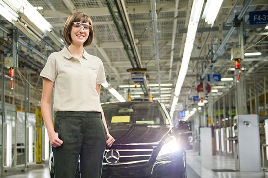 Engineering student with a Mercedes-Benz