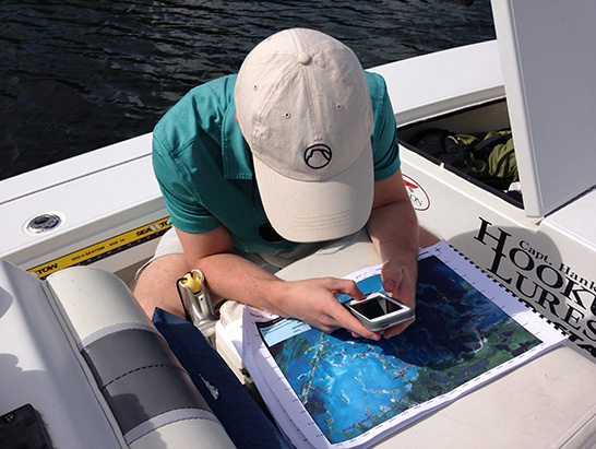 """Researchers use satellite images and """"ground-truthing"""" to map the boat paths that are damaging the Florida Bay."""
