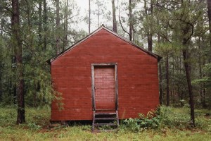 Red Building in Forest, Hale County, Alabama, 1983. Copyright William Christenberry; courtesy Sandra Christenberry.