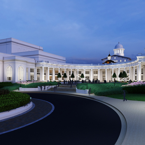 artist's rendering of the Performing Arts Academic Center