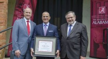 President Stuart Bell, Jeff Levitetz, Dean Robert Olin