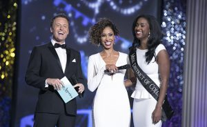 Briana Kinsey takes the stage at the Miss America pageant.